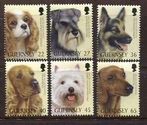 GUERNSEY 2001, DOGS, DOG CLUB CENTENARY, Scott 736-741, MNH