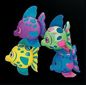 1 x Mini Inflatable Fish Sea Party Deocration Birthday Party Favours Loot Filler