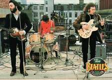 Paul, John, and Ringo Performing on a Rooftop, Music --- Beatles Trading Card