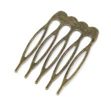 Lot de 6 antique bronze petit Cheveux Combs Cheveux Accessoires Findings