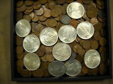 100 Mixed US Wheat Cents & 1 (ONE) Lustrous US Peace Dollar From Vintage  Hoard