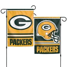 "Green Bay Packers Polyester 12""X18"" 2 SIDED Garden Yard Wall Flag NFL NWT"