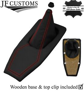 RED  STITCH REAL LEATHER SHIFT BOOT + BASE FRAME KIT FOR TRIUMPH TR7 TR8 76-82