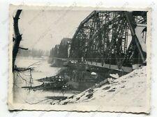 Foto, Wehrmacht, Brücke über die Weichsel, Nahaufname, Polen, a (N)19854