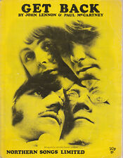 THE BEATLES Get Back Ex Northern Songs UK 1969 Music Sheet