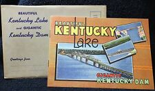 Vtg 1950 Beautiful Kentucky Lake & Gigantic Ky Dam Souvenir Booklet Tennessee TN