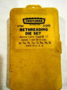 Craftsman 9-52111 Rethreading Die Set