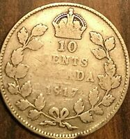 1917 CANADA SILVER 10 CENTS
