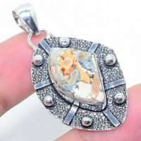 "Brecciated Mookaite Gemstone Handmade Ethnic Jewelry Pendant 1.58"" VJ-12250"