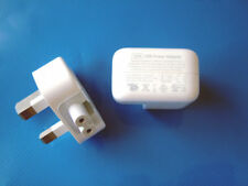 Genuine Original 12W Apple USB Power Adapter Charger A1401 + 3-pin UK Plug