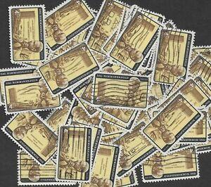 Postage Stamps For Crafting: 1962 4c UN/Dag Hammarskjold; Yellow/Brown 50 Copies