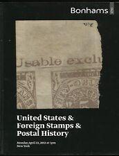 BONHAMS U.S., FOREIGN STAMPS & POSTAL HISTORY AUCTION CATALOG, APR 23rd, 2012