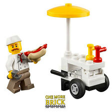 LEGO Hot Dog food stand and minifigure - from City Park set 60134 NEW