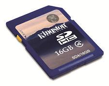 SCHEDA DI MEMORIA KINGSTON GB CLASSE 4 SD HC SDHV SD4/16GB MEMORY CARD