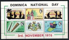 Dominica SC303a Souv.Sht.WomenIn18thCenturyDress&Map&Flag MNH 1970