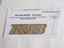 HSV VE E1 E2 E3 CLUBSPORT R8 ' R8 ' BOOT LID BADGE CHROME GENUINE HSV NEW