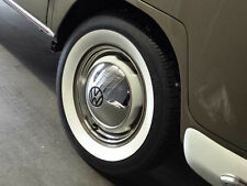 """VW TYPE 1 2 BUG BUS ACCESSORY 15"""" WHEEL STAINLESS STEEL BEAUTY TRIM RING SET"""
