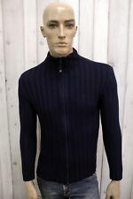 ARMANI JEANS Uomo Taglia M Maglione Blu Lana Sweater Pullover Maglietta Maglia