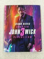 John Wick Chapter 3: Parabellum (Blu-ray/DVD/Digital) Brand New with Slipcover