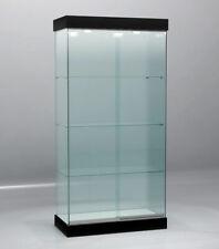 Vetrina Vetrinetta Espositore Display Showcase Vetro con luci NERO - OCCASIONE