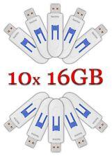 LOT 10x SanDisk 16GB Cruzer GLIDE USB Flash Drive 10 x 16 GB SDCZ60-016G WhiteBl