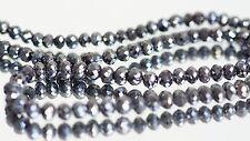 Black diamond beads 100 carats 18 inch necklace 100% earth mined black diamonds