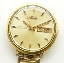 Vintage Men's MIDO Ocean Star Datoday Day Date Automatic Watch 5019 Gold Plated