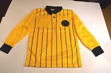 Soccer Futsal Referee Jersey Shirt Yellow & Black Long Sleeve Adult XL NIB
