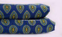 2.5 Yard Handmade Cotton Fabric Indian Natural Sanganeri Blue Print Fabric Craft