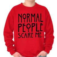 Normal People Scare Me Funny USA TV Horror Gift Funny Sweatshirt