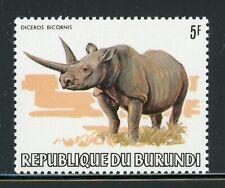 BURUNDI MNH Wildlife FAUNA Selections: Scott #591 5Fr Rhinoceros CV$6+
