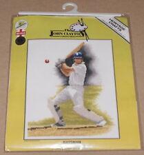 "John Clayton Cricket / Ball Player ""Batsman"" Cross Stitch Kit NIP"