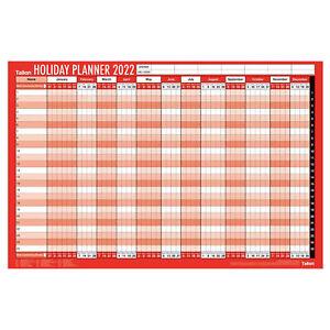 2022 Grande Personal Vacaciones Pared Agenda Calendario Con Puntero/Pegatinas -
