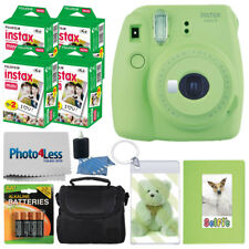 Fujifilm Instax Mini 9 Instant Camera - Lime Green + 80 Film + Accessory Bundle