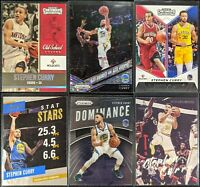 Lot of (6) Stephen Curry, Including Prizm disco, Dominance, Contenders & inserts