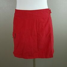 H&M L.O.G.G. SPORT Womens Red / Floral Reversible Skirt Size S