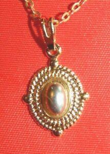 "14KT Yellow Gold Oval Light Purple Amethyst Gemstone Pendant 20"" Necklace"