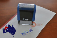 Brand New Received Date Stamp - Self Inking Rubber Stamp BLUE ink 37mm*13mm
