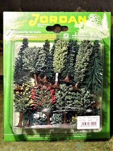 Bäume Jordan Mischwald 25 Stück N TT für Modellbahn Anlage etc.
