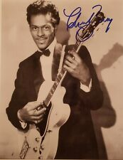 CHUCK BERRY Personally Autographed/Signed Photo(8X10) W/COA & #d Hologram