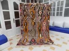 Amazing azilal Moroccan Old Vintage area Handmade Berber Rugs Carpet Wool