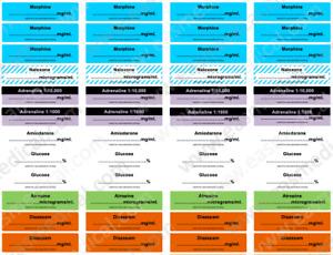 Paramedic Ambulance Syringe Drugs Labels for Event Medic TYPE-2