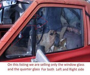 DATSUN NISSAN 620  MODEL 1972 79 DOOR WINDOW GLASS ASSY PAIR LEFT RIGHT USED