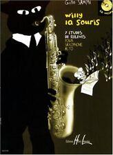 Willy la souris : 7 études de rélevés pour Saxophone alto - Livre + CD