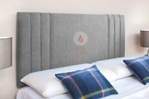 """BED HEADBOARD TURIN LINEN FABRIC 24""""  - SMALL DOUBLE KING SUPER KING"""