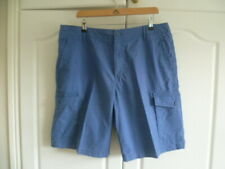 M&S Mens Cargo Shorts Blue - very good condition size 36W