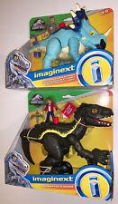 Jurassic World Pachyrhinosaurus & Lowery, Indorapter & Allosaurus Imaginext Mip