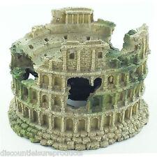 ACQUARIO Roman ampitheatre colonna Acquario Resina Decorazione Ornamento-ms768