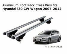 Aluminium Roof Rack Cross Bars fits Hyundai i30 CW Wagon 2007-2012
