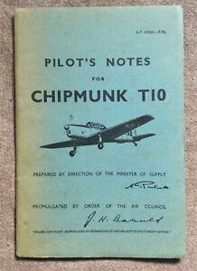 'Pilot's Notes' - Chipmunk T10 facsimile booklet